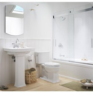 KOHLER Archer 20-in x 31-in Arched Surface/Recessed Medicine Cabinet with Mirror