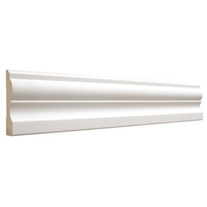 3/4 x 3-1/4 x 8-ft Primed MDF Casing Moulding