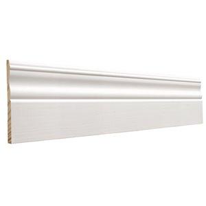 7/16 x 4-1/8 x 12-ft Primed Finger Joint Pine Baseboard Moulding