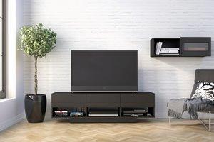 Nexera Stereo 60-in Black TV Stand