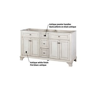 Foremost Corsicana 60-in Antique White Vanity