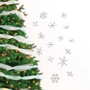 ADzif Christmas Wall Decal - Snowflakes - 2.6' x 2.3' - Gray