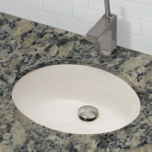 Decolav Carlyn Undermount Oval Off-White Sink With Overflow