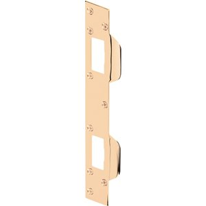 Steel Entry Door Maximum Security Combination Brass Plated Strike Plate