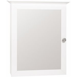 Style Selections 20-in x 25-in White MDF Surface Mount Medicine Cabinet