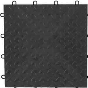 48-Piece 12-in x 12-in Charcoal Diamond Plate Garage Floor Tile