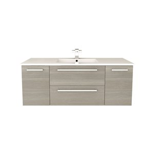 Cutler Silhouette 48-in Single Sink Aria Bathroom Vanity With Cultured Marble Top