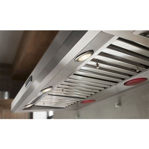 KitchenAid 48-in Wall-Mounted Range Hood (Stainless Steel)