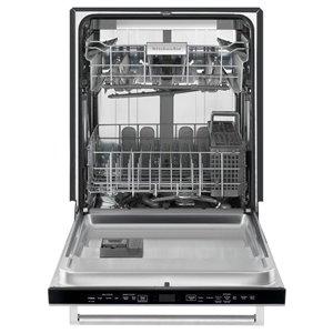 KitchenAid 24-in 44-Decibel Built-in Dishwasher with Hidden Control Panel (Black) ENERGY STAR