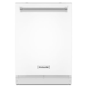 KitchenAid 24-in 44-Decibel Built-in Dishwasher with Hidden Control Panel (White) ENERGY STAR