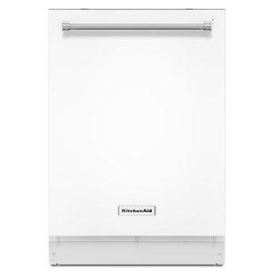 KitchenAid 24-in 44-Decibel Built-in Dishwasher with Hidden Control Panel (White) ENERGY STAR