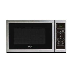 Whirlpool 0.9-cu ft 900-Watt Countertop Microwave (Black-On-Stainless)