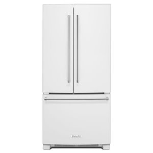 KitchenAid 22.1-cu ft 3-Door French Door Refrigerators Single Ice Maker (White) ENERGY STAR