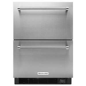 KitchenAid 23.75-in Built-in 2 Drawer Refrigerator (Stainless Steel)