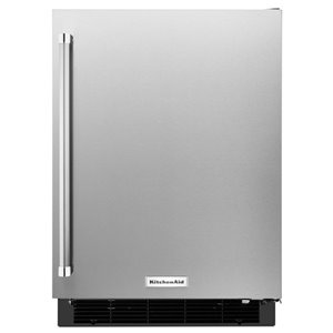 KitchenAid 4.9-cu ft Built-in Compact Refrigerator (Stainless Steel)