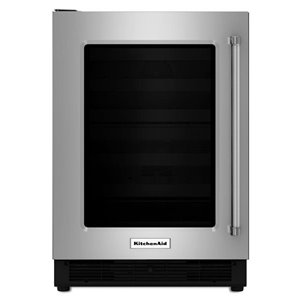 KitchenAid 4.7-cu ft Built-in Compact Refrigerator (Stainless Steel)