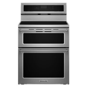 KitchenAid 30-in 6.7 cu ft Induction Range with Self-Cleaning Convection Oven (Stainless Steel)