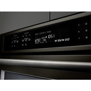 KitchenAid 30-in Convection Single-Fan Double Electric Wall Oven (Black Stainless)