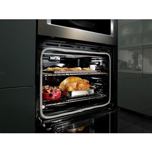 KitchenAid 30-in Self-Cleaning Convection Microwave Wall Oven Combo (Black Stainless)