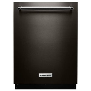 KitchenAid 44-Decibel Filtration Built-In Dishwasher (Fingerprint-Resistant Black Stainless) (Common: 24-in; Actual: 23.875-in) ENERGY STAR