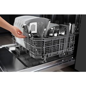 KitchenAid 24-in 44-Decibel Built-in Dishwasher with Hidden Control Panel (Black Stainless) ENERGY STAR