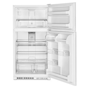 Maytag 33-in 20.5-cu ft Top-Freezer Refrigerator (White)