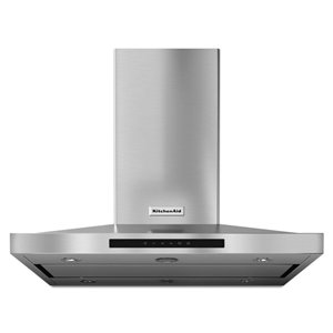 KitchenAid 36-in 600 CFM Island Range Hood (Stainless Steel)