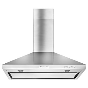 KitchenAid 36-in 400 CFM Wall-Mounted Range Hood (Stainless Steel)