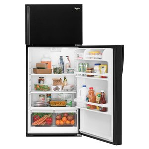 Whirlpool 28-in 14.33-cu ft Top-Freezer Refrigerator Optional (Sold Separately) (Black)