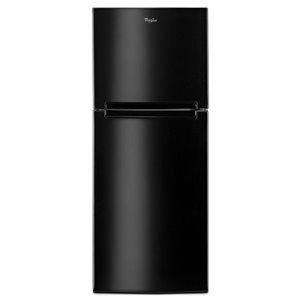 Whirlpool 24-in 10.7-cu ft Top-Freezer Refrigerator (Black)