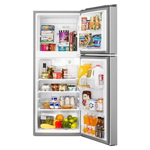 Whirlpool 24-in 10.7-cu ft Top-Freezer Refrigerator (Stainless Steel)