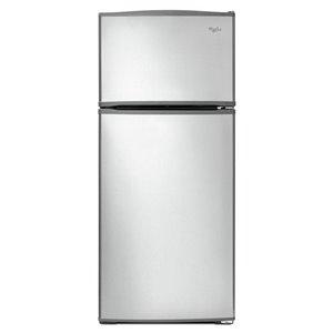 Whirlpool 28-in 16-cu ft Top-Freezer Refrigerator (Stainless Steel)