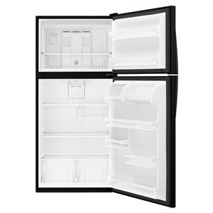Whirlpool 30-in 18.2-cu ft Top-Freezer Refrigerator Optional (Black)