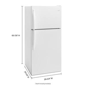 Whirlpool 30-in 18.2-cu ft Top-Freezer Refrigerator (White)