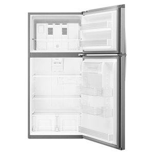 Whirlpool 30-in 19.1-cu ft Top-Freezer Refrigerator (Stainless Steel)