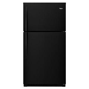 Whirlpool 33-in 21.3-cu ft Top-Freezer Refrigerator (Black) ENERGY STAR