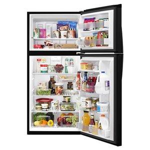 Whirlpool 30-in 19.1-cu ft Top-Freezer Refrigerator (Black)