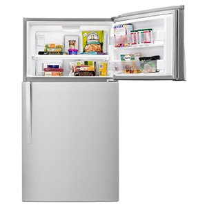 Whirlpool 32.75-in 21.3-cu ft Top-Freezer Refrigerator Optional (Sold Separately) (Monochromatic Stainless Steel) ENERGY STAR