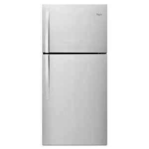 Whirlpool 29-in 19.2-cu ft Top-Freezer Refrigerator (Stainless Steel) ENERGY STAR
