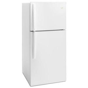 Whirlpool 30-in 19.1-cu ft Top-Freezer Refrigerator (White)