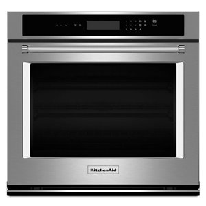 KitchenAid 27-in Single Electric Wall Oven (Stainless Steel)