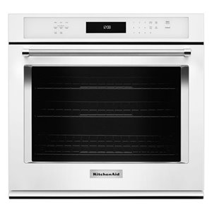 KitchenAid 30-in Convection Single Electric Wall Oven (White)