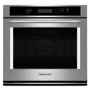 KitchenAid 27-in Convection Single Electric Wall Oven (Stainless Steel)