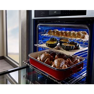 KitchenAid 30-in Convection Single Electric Wall Oven (Black)