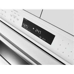 KitchenAid 30-in Self-Cleaning Microwave Convection Microwave Wall Oven Combo (White)