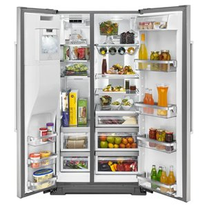 KitchenAid 36-in 24.8-cu ft Side-By-Side Refrigerator (Stainless Steel) ENERGY STAR
