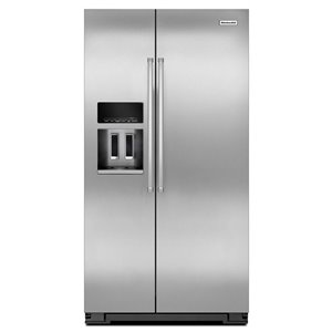 KitchenAid 36-in 19.9-cu ft Side-By-Side Refrigerator (Stainless Steel)
