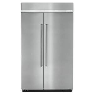 KitchenAid 30-cu ft Standard-Depth Built-In Side-by-Side Refrigerator (Fingerprint-Resistant Stainless Steel)