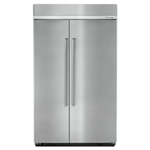 KitchenAid 30-cu ft Standard-Depth Built-In Side-by-Side Refrigerator (Fingerprint-Resistant Stainless Steel)