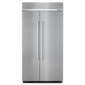 KitchenAid 25.5-cu ft Standard-Depth Built-In Side-by-Side Refrigerator (Fingerprint-Resistant Stainless Steel)